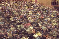 Fans at the Sands Centre, May 2001